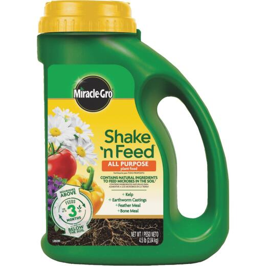 Miracle-Gro Shake N' Feed 4.5 Lb. 12-4-8 All-Purpose Dry Plant Food