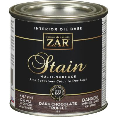 ZAR Oil-Based Wood Stain, Dark Chocolate Truffle, 1/2 Pt.