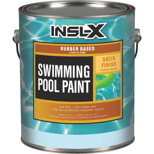 Insl-X 1 Gal. White Satin Rubber Based Pool Paint
