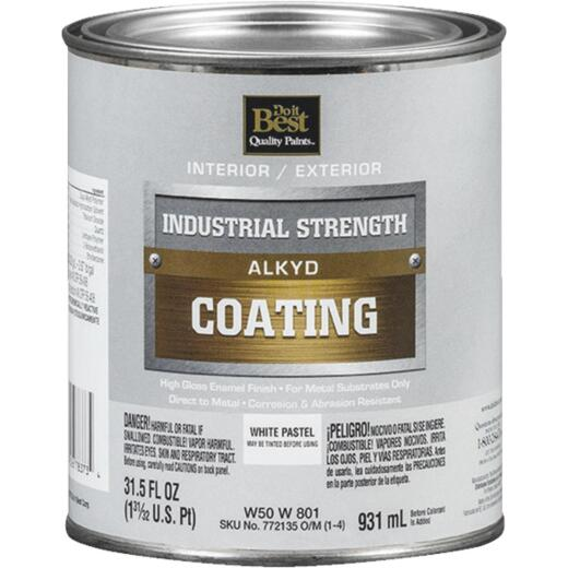 Do it Best Pastel Base Alkyd Industrial Coating, White, 1 Qt.