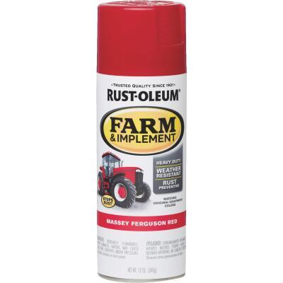 Rust-Oleum 12 Oz. Massey Ferguson Red Farm & Implement Spray Paint