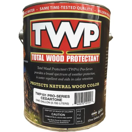 TWP100 Pro Series Semi-Transparent Wood Protectant Deck Stain, Cedartone, 1 Gal.