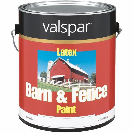 Valspar Latex Paint & Primer In One Flat Barn & Fence Paint, Red, 1 Gal.