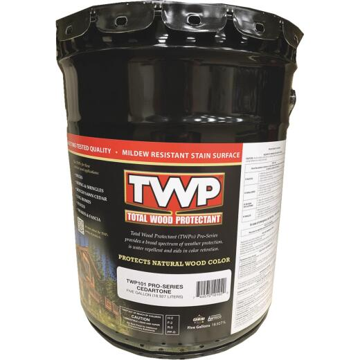 TWP100 Pro Series Semi-Transparent Wood Protectant Deck Stain, Cedartone, 5 Gal.