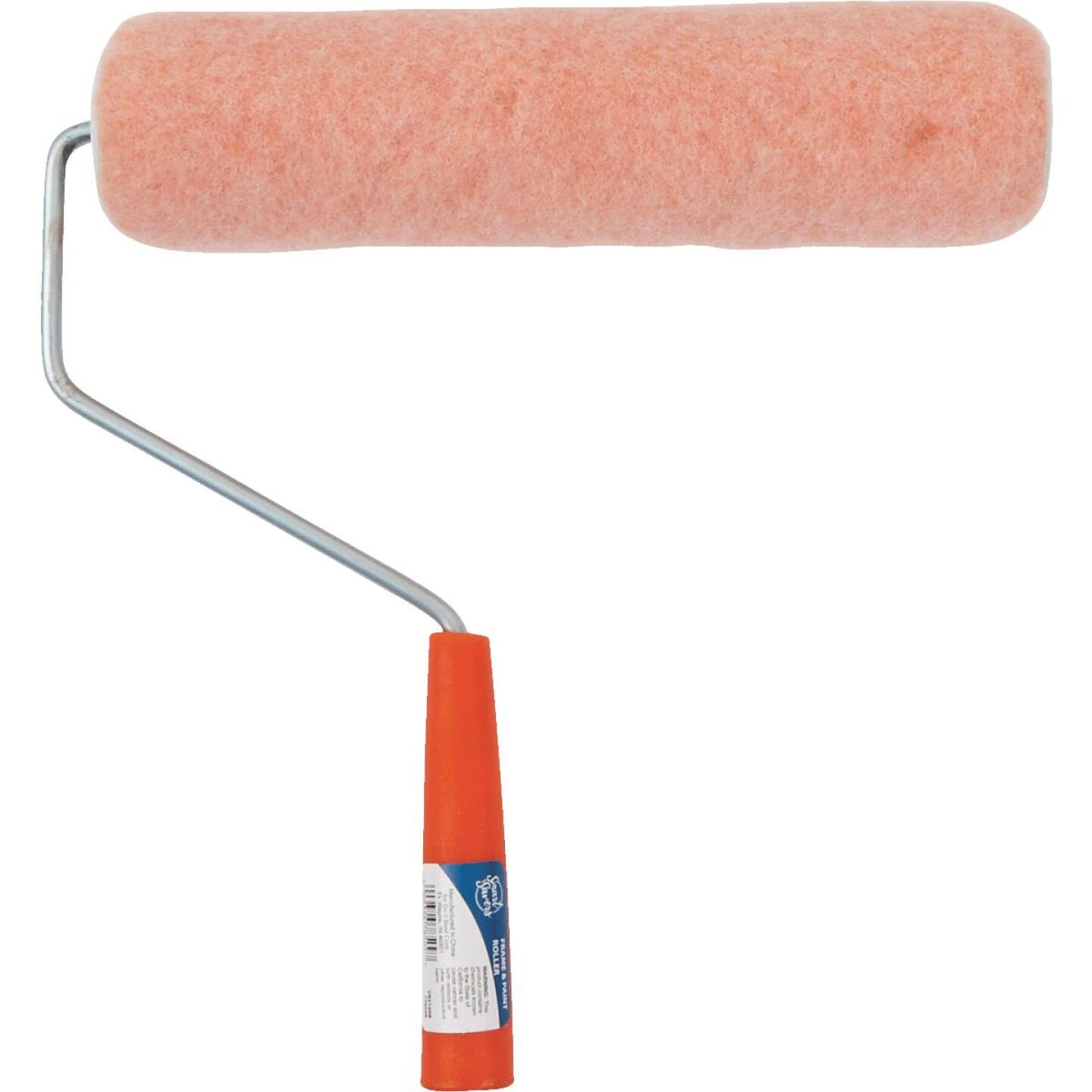 Smart Savers 9 In. x 3/8 In. Semi-Smooth Paint Roller Cover & Frame Image 2