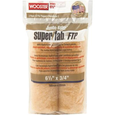 Wooster Jumbo-Koter Super/Fab FTP 6-1/2 In. x 3/4 In. Mini Knit Fabric Roller Cover (2-Pack)