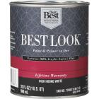 Best Look 100% Acrylic Latex Paint & Primer In One Flat Exterior House Paint, High Hiding White, 1 Qt. Image 1
