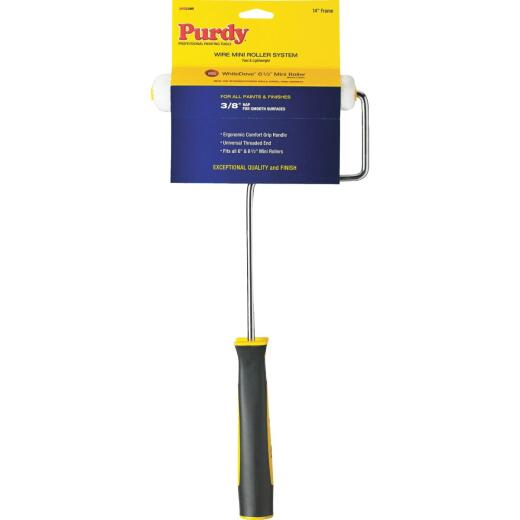 Purdy White Dove 6.5 In. x 3/8 In. Semi-Smooth Woven Paint Roller Cover & Frame
