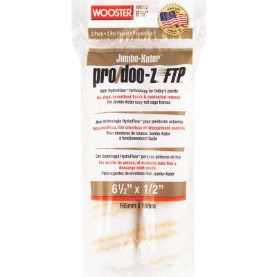 Wooster Jumbo-Koter Pro/Doo-Z FTP 6-1/2 In. x 1/2 In. Mini Woven Fabric Roller Cover (2 Pack)