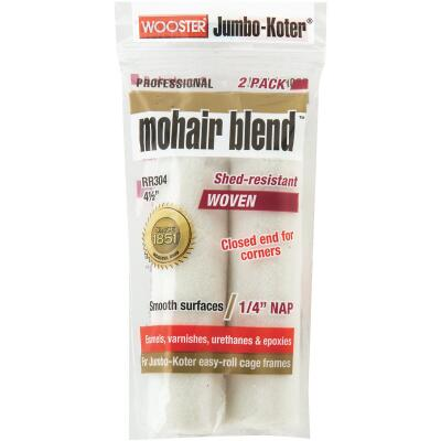 Wooster Jumbo-Koter 4-1/2 In. x 1/4 In. Mohair Blend Mini Woven Fabric Roller Cover (2-Pack)