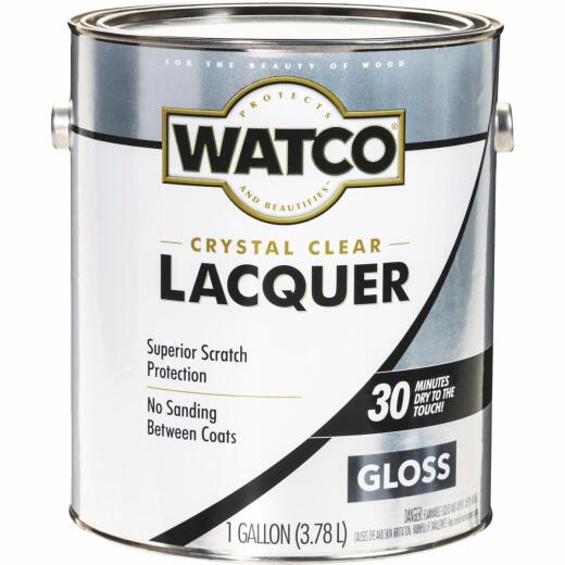 Watco Clear Gloss Gallon 350 Sq. Ft./Gal. Lacquer