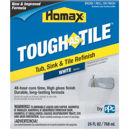 Homax Tough As Tile 26 Oz. White Tub, Sink, and Tile Finish