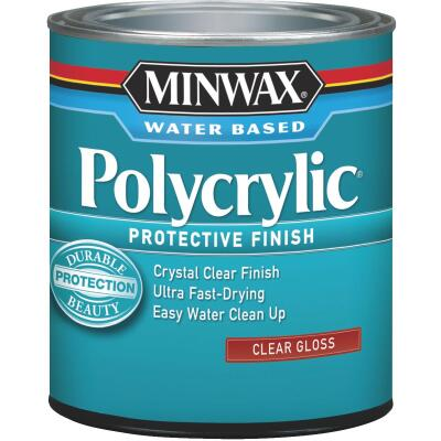 Minwax Polycrylic 1 Qt. Gloss Water Based Protective Finish