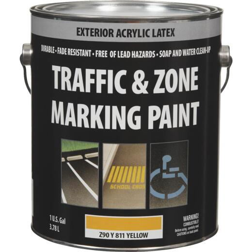 Traffic And Zone Yellow Latex Gallon Traffic Paint