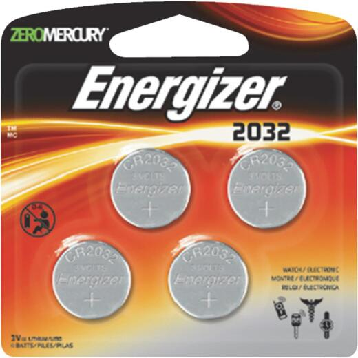 Energizer 2032 Lithium Coin Cell Battery (4-Pack)