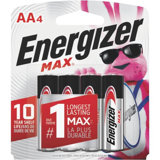 Energizer Max AA Alkaline Battery (4-Pack)