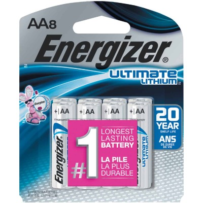 Energizer AA Ultimate Lithium Battery (8-Pack)