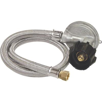 Bayou Classic 36 In. Stainless Steel Low Pressure LP Hose & Preset Regulator