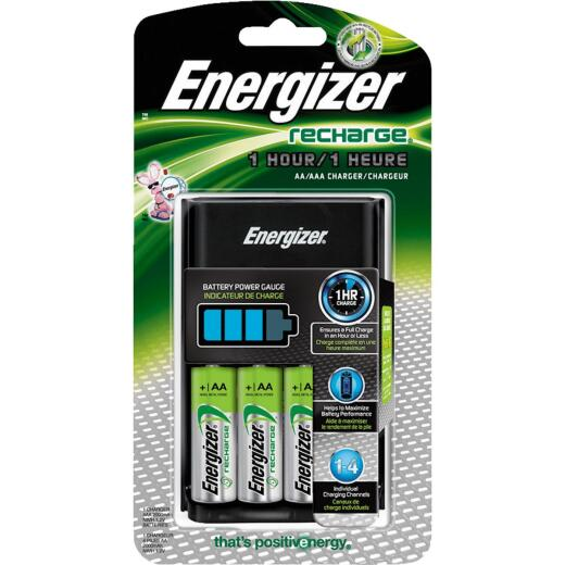 Energizer Recharge (4) AA or (4) AAA NiMH Battery Charger