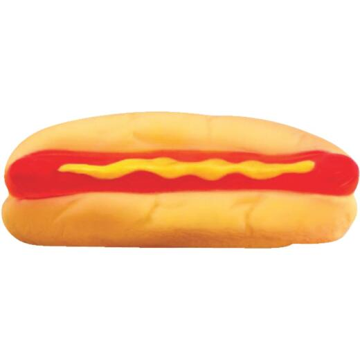 Westminster Pet Ruffin' it 1.66 In. W. x 2.0 In. H. x 5.25 In. L. Squeaky Hot Dog Vinyl Dog Toy