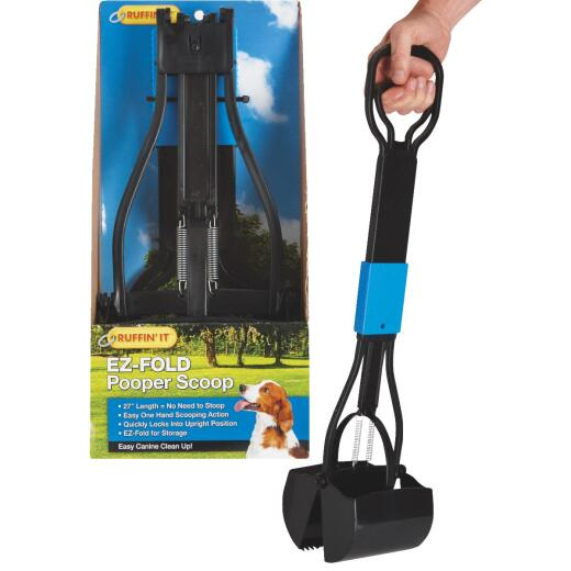 Ruffin' it EZ-Fold 27 In. Black Plastic Pet Scooper