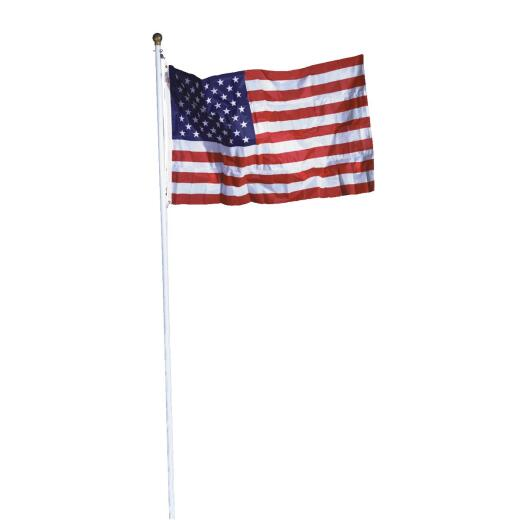 Valley Forge 3 Ft. x 5 Ft. Polycotton American Flag & 18 Ft. Pole Kit