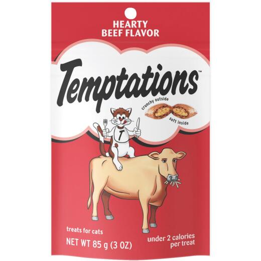 Pedigree Temptations Hearty Beef 3 Oz. Cat Treat