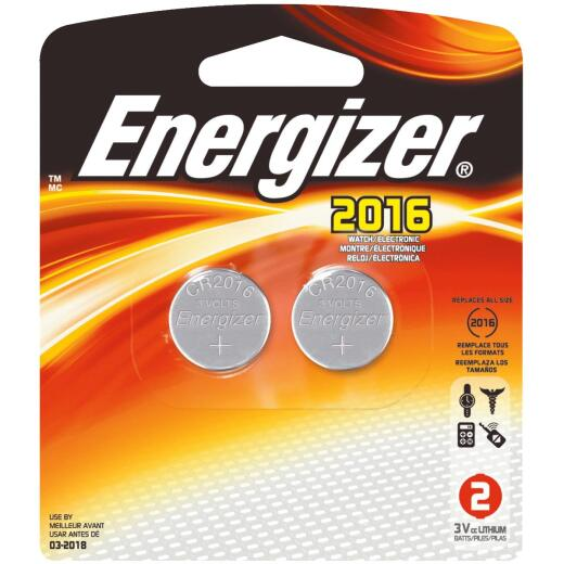 Energizer 2016 Lithium Coin Cell Battery (2-Pack)