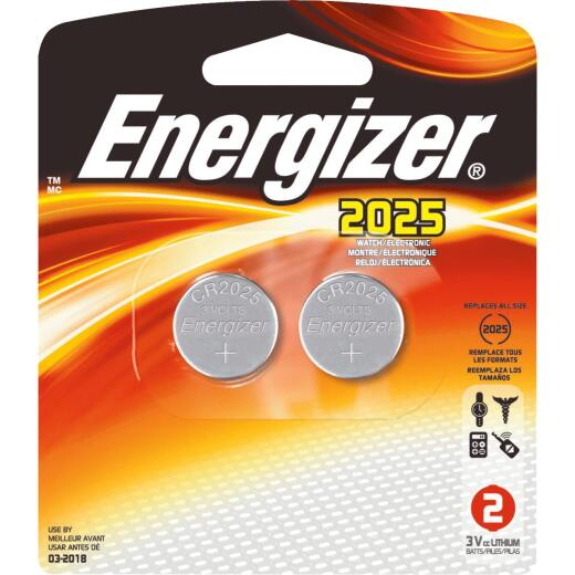 Energizer 2025 Lithium Coin Cell Battery (2-Pack)