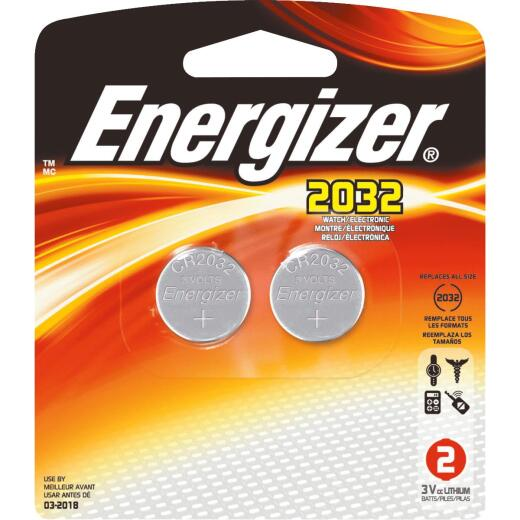 Energizer 2032 Lithium Coin Cell Battery (2-Pack)