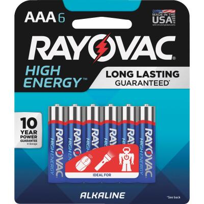 Rayovac High Energy AAA Alkaline Battery (6-Pack)