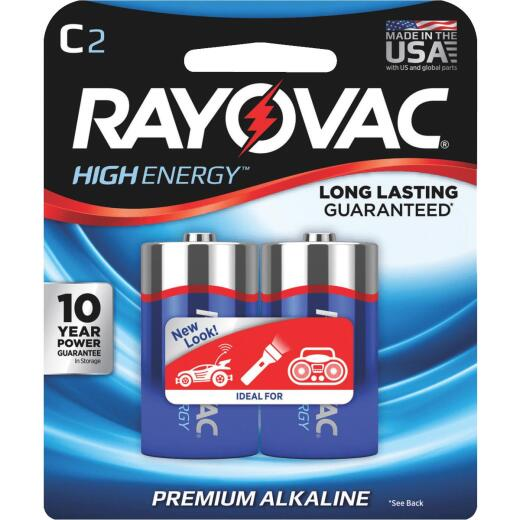 Rayovac High Energy C Alkaline Battery (2-Pack)