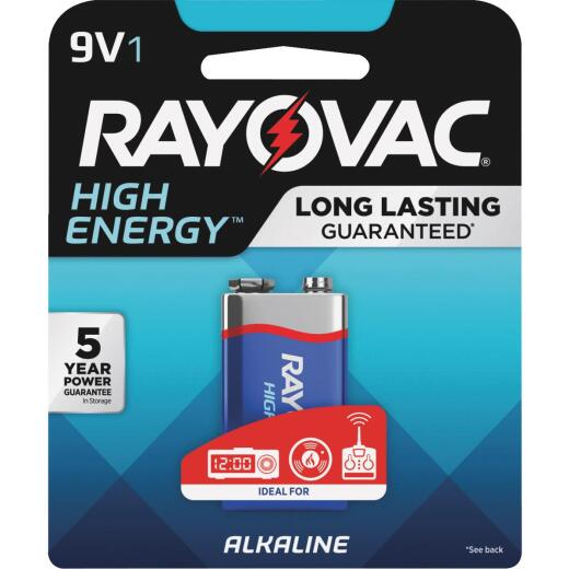 Rayovac High Energy 9V Alkaline Battery