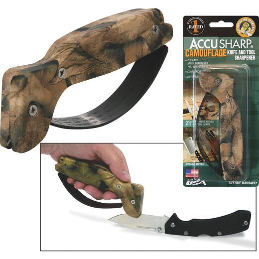AccuSharp Groove Diamond-Honed Carbide Blade Camouflage Knife & Tool Sharpener