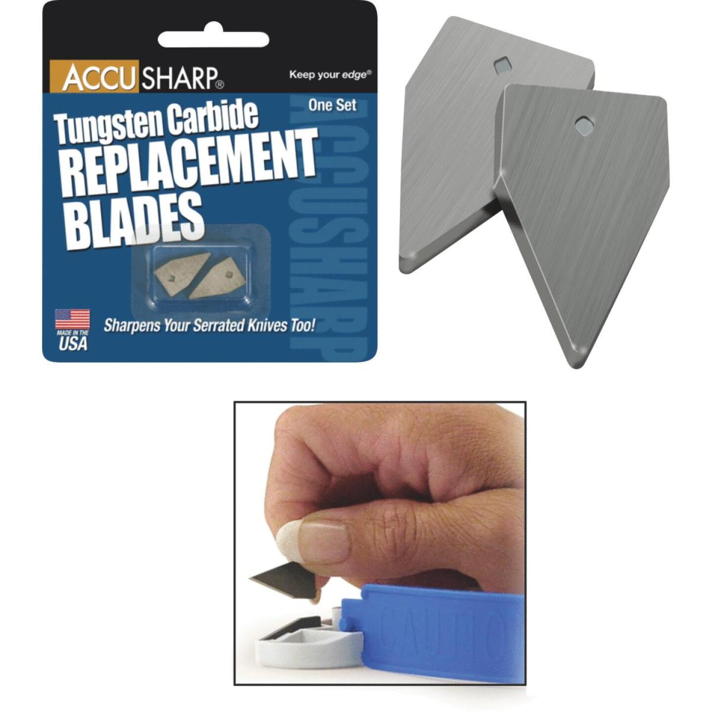 AccuSharp Tungsten Carbide Replacement Sharpening Blade (2-Pack) Image 1