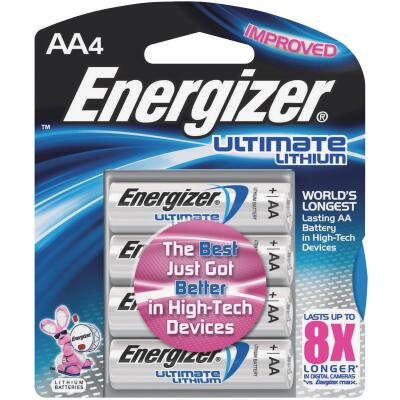 Energizer AA Ultimate Lithium Battery (4-Pack)