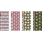 Paper Images Traditional 40 In. Christmas Gift Wrapping Paper Image 1