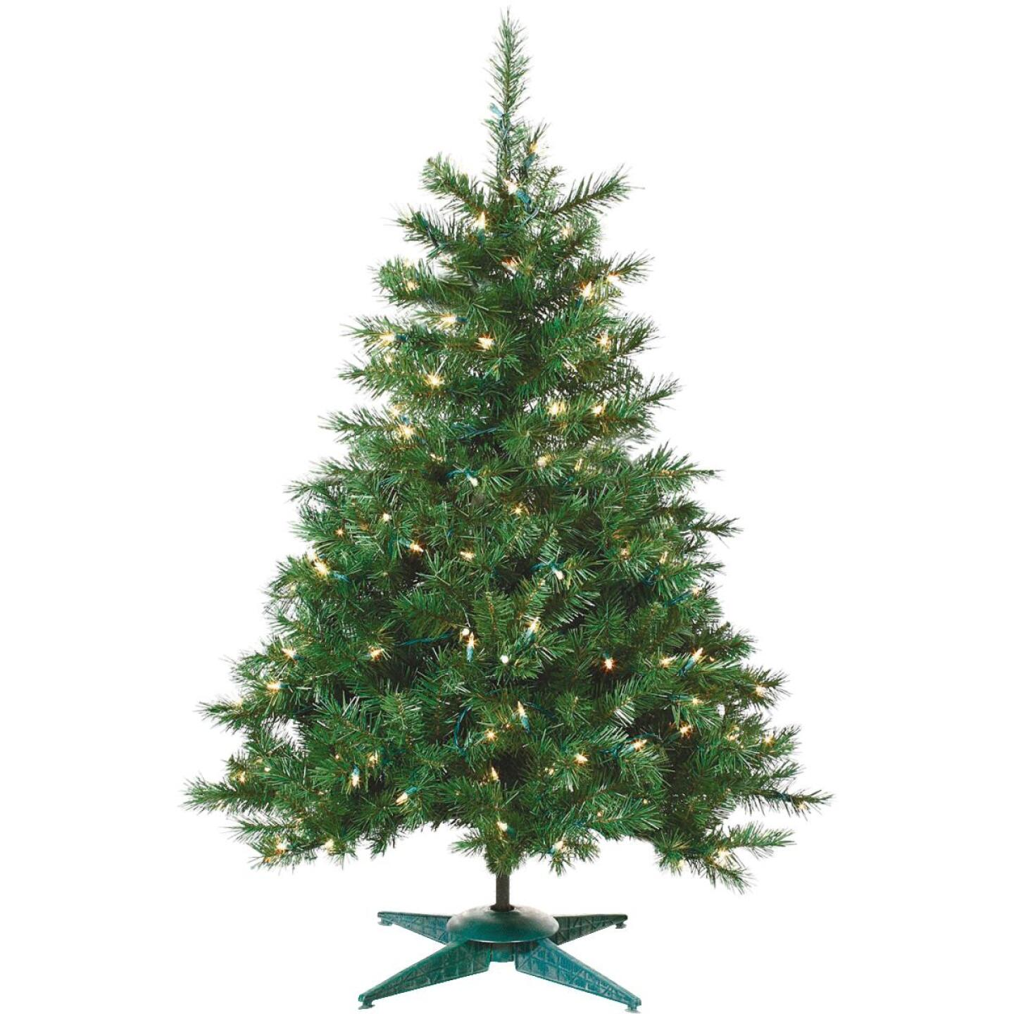Sterling 2 Ft. Colorado Spruce 50-Bulb Clear Incandescent Prelit Artificial Christmas Tree Image 1
