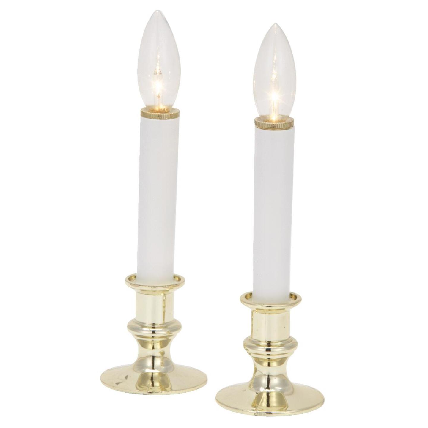 J Hofert 8.5 In. H. x 2.5 In. Dia. Gold Battery Operated Candle (2-Piece) Image 1