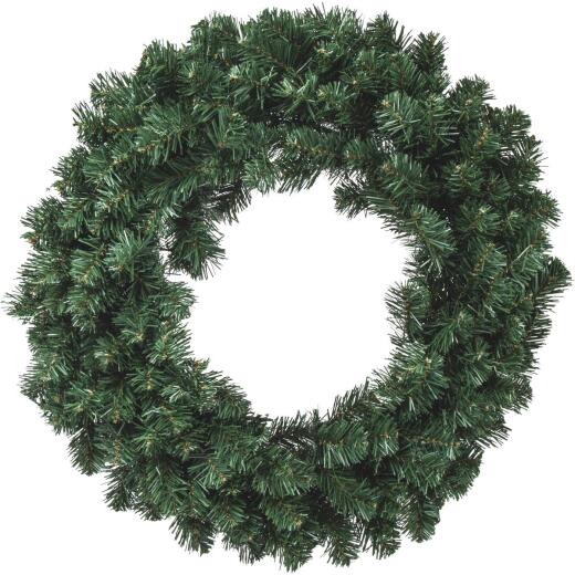 Gerson 24 In. 50-Bulb Color Changing LED Balsam Pine Prelit Wreath