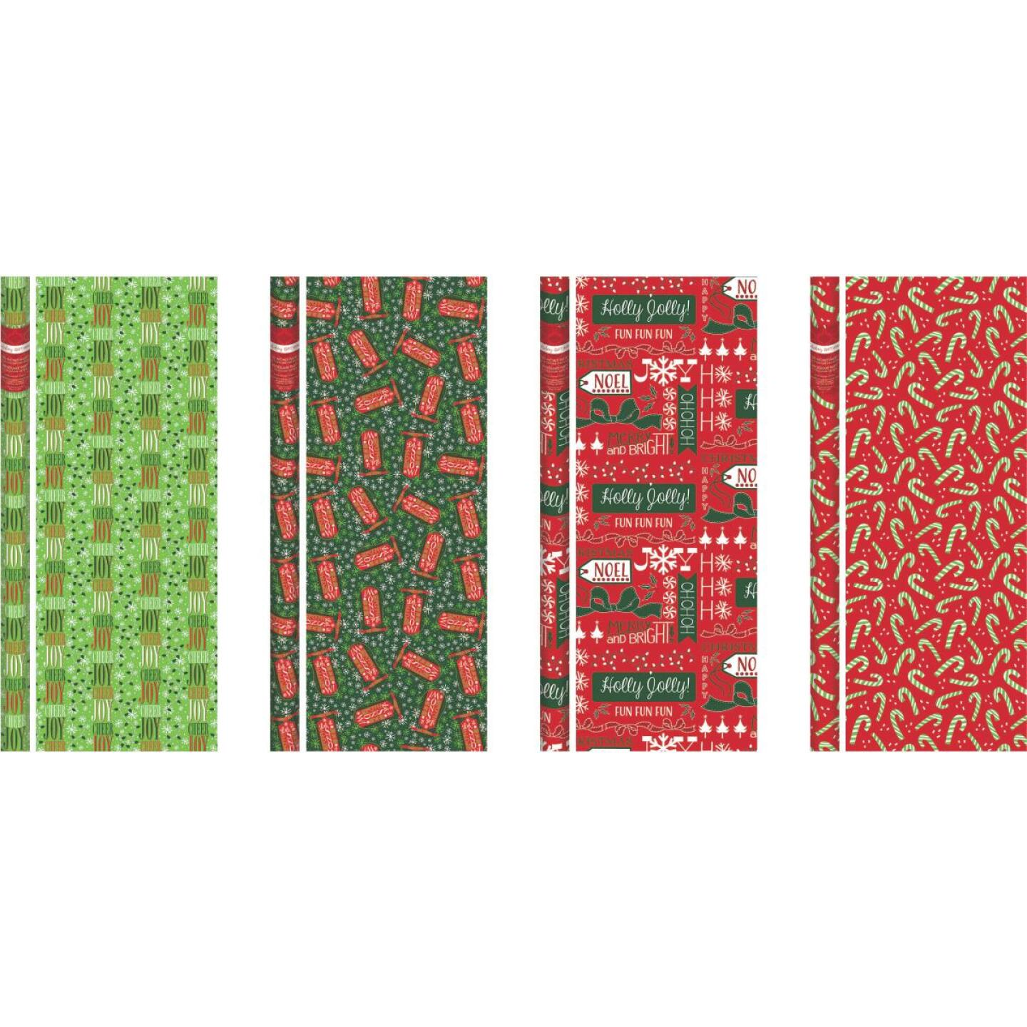Paper Images Traditional 30 In. Christmas Gift Wrapping Paper Image 1